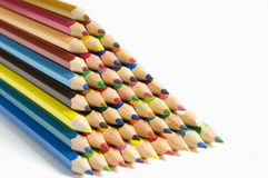Coloured pencils on white background Royalty Free Stock Image