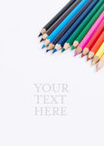 Coloured pencils. On white background Stock Images