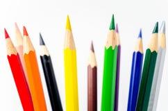 Coloured Pencils on White Background Royalty Free Stock Image