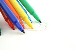 Coloured Pens Stock Photo