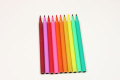 Coloured Pens Office Supplies Royalty Free Stock Images