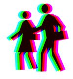 Coloured people. Created from rgb symbol of hope Royalty Free Stock Images