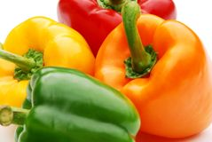 Coloured peppers Royalty Free Stock Image