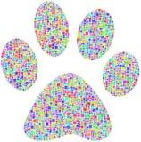 Coloured pet footprint Stock Image