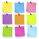 Coloured pieces of Blank Notes Royalty Free Stock Photos