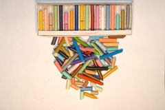 Coloured pieces of chalk Stock Image