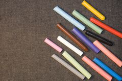 Coloured pieces of chalk Royalty Free Stock Photo