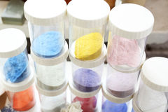 Coloured pigments painting Stock Photography