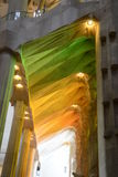 Coloured Pillars at Sagrada Familia, Gaudi, Barcelona Royalty Free Stock Photography