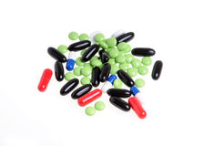 Coloured pills Stock Image
