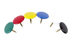 Coloured pins Stock Photo