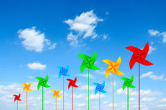 Coloured pinwheels Royalty Free Stock Images