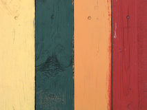 Coloured planks. Coloured fence royalty free stock images