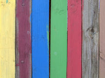 Coloured planks Royalty Free Stock Image