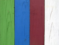 Coloured planks Royalty Free Stock Photography