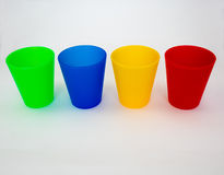 Coloured Plastic Cups Stock Images