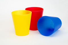 Coloured Plastic Cups Royalty Free Stock Image