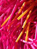 Coloured plastic tubes Royalty Free Stock Photos