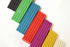 Coloured Plasticine Stock Photography