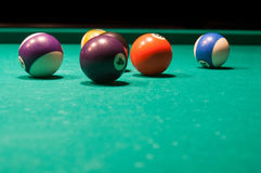 Coloured pool balls Stock Image