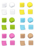 Coloured post-it. Different kind of paper reminders and stickers royalty free illustration