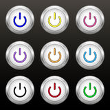 Coloured power buttons Royalty Free Stock Photography