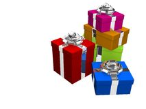 Coloured presents Royalty Free Stock Photography