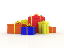 Coloured presents Royalty Free Stock Images