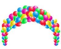 Coloured przyjęcie balony Zdjęcia Royalty Free