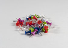 Coloured push pins Royalty Free Stock Images