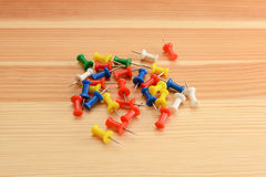 Coloured push pins Royalty Free Stock Photography