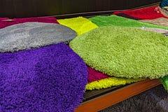 Coloured puszyści dywany dla tła Zdjęcie Stock