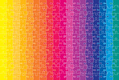 Coloured puzzle Royalty Free Stock Photography