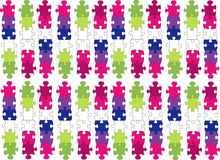 coloured puzzle pieces Royalty Free Stock Images