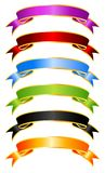 Coloured ribbons Royalty Free Stock Photos