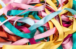 Coloured Ribbons Stock Photos
