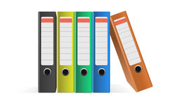 Coloured Ring Binders Stock Photography