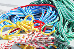 Coloured ropes Stock Image