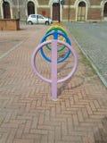 Coloured rowerów poręcze Obraz Royalty Free