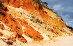 Coloured Sands Queensland. Striking coloured sands of Rainbow Beach, Queensland, Australia stock images