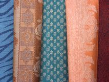 Coloured scarfs 2 Stock Photos