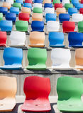 Coloured seats Royalty Free Stock Photography