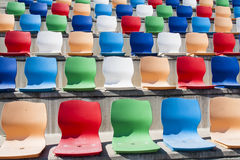 Coloured seats Royalty Free Stock Images