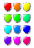 Coloured Shields Royalty Free Stock Photos