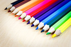 Coloured short pencils Royalty Free Stock Photography