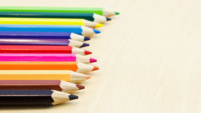 Coloured short pencils Stock Photography