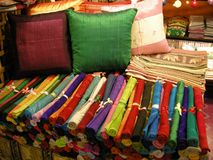 Coloured silk cloth Royalty Free Stock Images