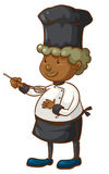 A coloured sketch of a chef Stock Image
