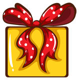 A coloured sketch of a Christmas gift Royalty Free Stock Image