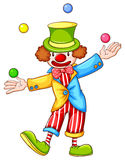 A coloured sketch of a clown juggling Royalty Free Stock Photography